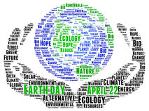 Earth Day. Concept illustration word cloud Royalty Free Stock Images