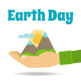 Earth Day  concept. Nature in human hands. Stock Photo