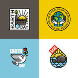 Earth day concepts set Stock Photography