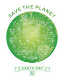 Earth Day. Conceptual design for the conservation of nature. Stock Images