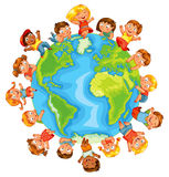 Earth Day. Cute little kids Royalty Free Stock Photography