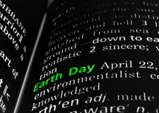 Earth Day Defined on Black Royalty Free Stock Image