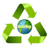 Earth Day design with recycle arrows. Vector graphic corporate ecology background Royalty Free Stock Images
