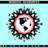 Earth Day. Destruction of mineral reserves. Royalty Free Stock Image