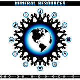 Earth Day. Destruction of mineral reserves. Stock Photo