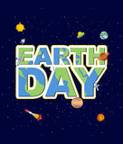 Earth Day emblem. Logo for Holidays of  Earth. Silhouette of con Stock Photos