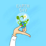 Earth Day Female Hands Hold Globe Royalty Free Stock Images