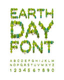 Earth Day Font. forest alphabet. Letters from Tree. Internationa Stock Photography
