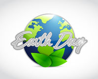Earth day globe sign illustration Royalty Free Stock Image