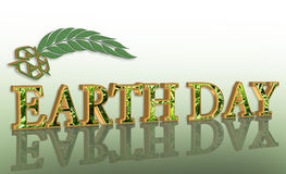 Earth day graphic 3D recycle. Illustration for Earth Day with  3D text and recycling symbol or logo Stock Photo