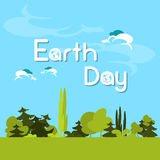 Earth Day Green Forest Tree Nature Landscape Stock Photos