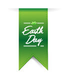 Earth day green illustration banner. Over a white background Royalty Free Stock Photo