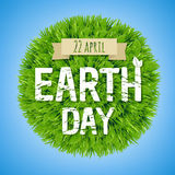 Earth Day Green Postcard. With Gradient Mesh, Vector Illustration Stock Photography