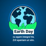 Earth Day Greeting Card Eco Protection Concept 22 April Holiday Banner Template. Vector Illustration Stock Image