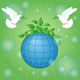 Earth Day greeting card Royalty Free Stock Photos