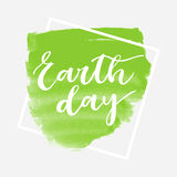 Earth day greeting card Stock Photo