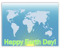 Earth Day greeting card. Stock Photography