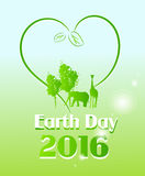 Earth Day 2016. Greeting card to celebrate Earth Day 2016 royalty free illustration