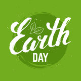 Earth day grunge poster. Stock Image