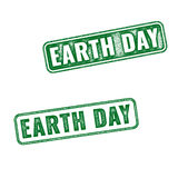 Earth Day grunge rubber stamps isolated on white Stock Image