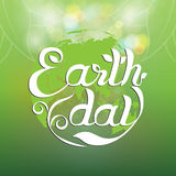 Earth day hand writing. Royalty Free Stock Photo