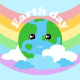 2018.03.26_2 earth day. Happy Earth day poster. Vector illustration royalty free illustration