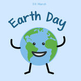 Earth day. Earth day. happy planet. Flat  stock illustration Royalty Free Stock Images