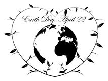 Earth Day Heart - illustration Royalty Free Stock Images
