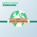 Earth Day. Human hands holding banner let's save the earth. Environment, save the world concept. Royalty Free Stock Image