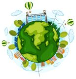 An earth day icon. Illustration vector illustration