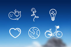 Earth day icons vector Stock Photography