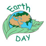 Earth day illustraion royalty free illustration