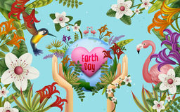 Earth day illustration Royalty Free Stock Photos