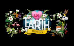 Earth day illustration Stock Photography