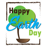 Earth day illustration Royalty Free Stock Images
