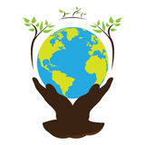 Earth day illustration Royalty Free Stock Photography