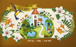 Earth day illustration Royalty Free Stock Image