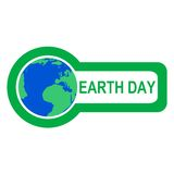 Earth Day - illustration. Earth Day ilustration on white background Royalty Free Stock Photo
