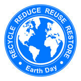 Earth day illustration Royalty Free Stock Photo
