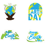 Earth day illustrations Royalty Free Stock Photography
