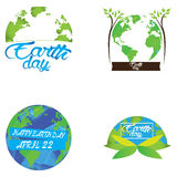 Earth day illustrations Stock Photography