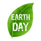 Earth Day Leaf. Vector Illustration Stock Photos