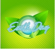 Earth day leaves cycle illustration Royalty Free Stock Photo
