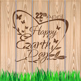 Earth Day lettering design. 22 April Royalty Free Stock Photography