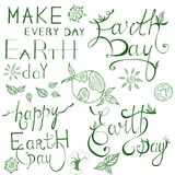 Earth Day lettering Royalty Free Stock Photography