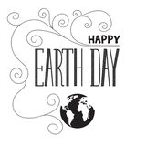 Earth day lettering Royalty Free Stock Images