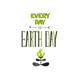 Earth day lettering Stock Image