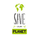 Earth day lettering Stock Photos