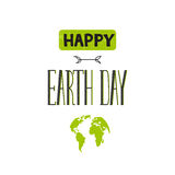 Earth day lettering Royalty Free Stock Photo