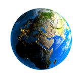 Earth. Day and night. Exaggerated metaphor of the day and night on the globe vector illustration